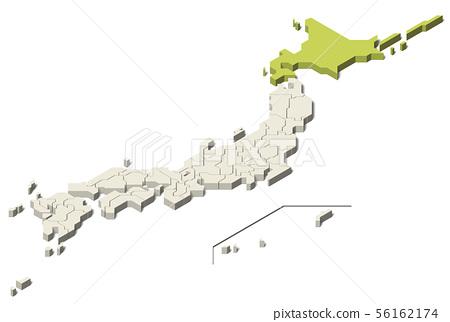 日本地圖北海道地區北部地區(第3組) 56162174