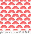Red hand fan seamless pattern. Vector asian fans texture design 56167031