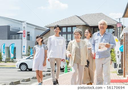모델 하우스 주택 전시장 하우스 전시장 견학 세 가족 두 주택 56170694