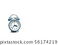 Alarm clock on white isolated, abstract background 56174219