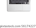 top view of laptop on white isolated backgrund 56174227