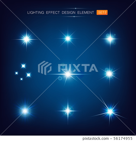 Collection of lighting effect design element 002 56174955