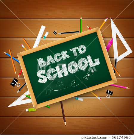 Calligraphy title text back to school 001 56174960