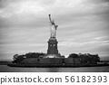 Statue of Liberty at dusk, New York City, USA 56182393