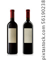 Bottles of red wine. 56190238