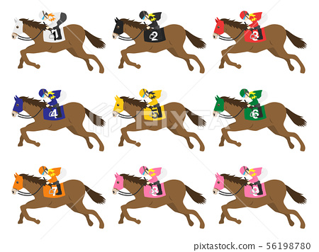 Illustration of a racehorse 56198780