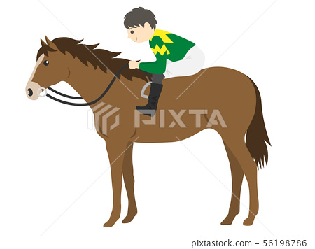 Illustration of a racehorse 56198786