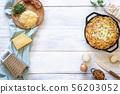 Cheese spaetzle and ingredients. German food 56203052