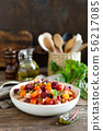 Beetroot or beet salad with boiled vegetables 56217085