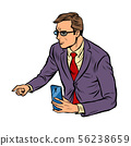 meeting businessman with smartphone 56238659