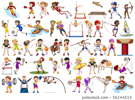 Sport activities by boys, girls, kids, athletes 56244818