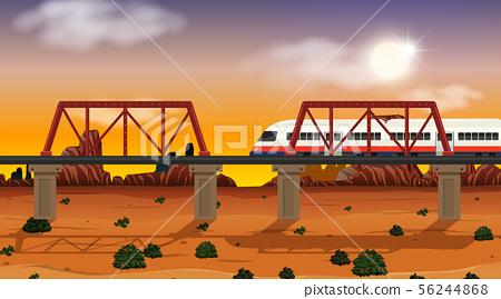 Western desert themed scene in nature 56244868