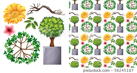 Seamless background design with isolated objects 56245187