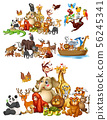 Many animals on isolated background 56245341