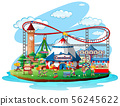 Fun fair theme park on isolated background 56245622
