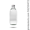 Glass bottles containing soda water 56250472