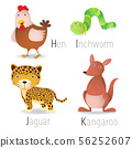 Alphabet with animals from H to K Set 2 56252607