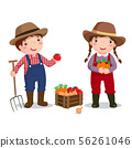 Profession costume of farmer for kids 56261046
