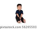 Portrait of a Asian baby boy sitting on floor 56265503