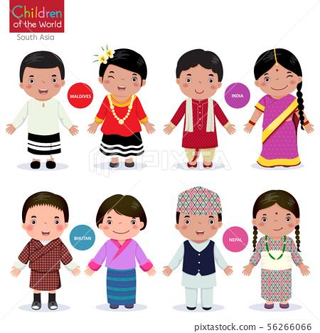 Children of the world (Maldives, India, Bhutan and 56266066