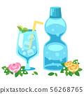 節日ramune瓶(蘇打/蘋果酒)的插圖 56268765