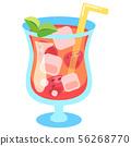 딸기 주스 (스무디 해독 워터 과일 물)의 일러스트 56268770