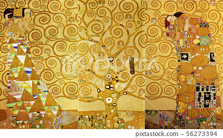 The Stoclet Frieze, Detail: The Expectation, Tree of Life Klimt, Gustav (1862-1 56273394