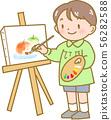 그림을 그리는 소년 56282588