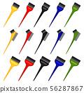 Colorful cartoon hair dye brush set 56287867