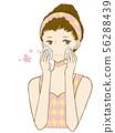 Skincare, woman, face wash 56288439