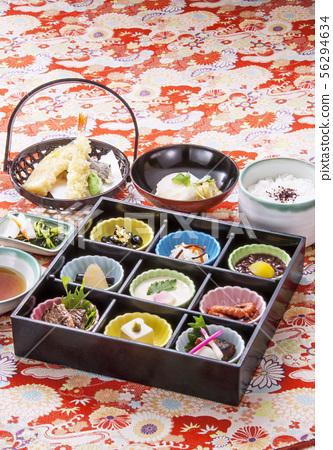 新年美食Osechi美食日本料理圖像傳統的日本料理圖像素材 56294634