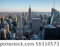 Looking South from the top of Manhattans midtown 56310573