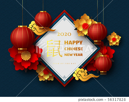 Happy Chinese New Year 2020. 56317828