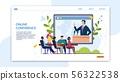 Advertising Banner Inscription Online Conference.  56322538