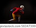 Woman, ball, runs 56347399