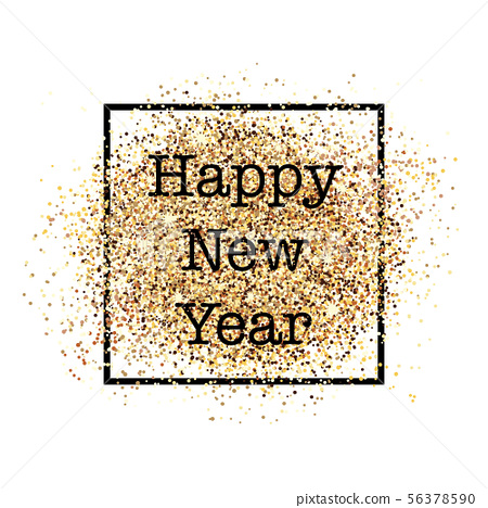 Happy new year postcard with confetti  56378590