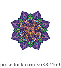 Indian Mandala design with floral elements and 56382469