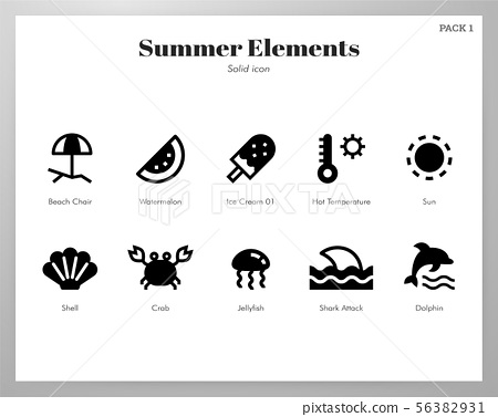 Summer holiday elements Solid pack 56382931