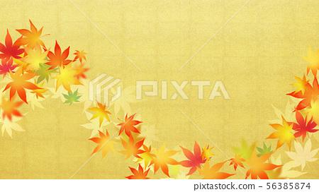배경 - 일본 - 일본식 - 일본식 디자인 - 종이 - 단풍 - 금박 - 가을 56385874