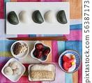 한국의 전통음식 한과, 송편, 모듬한과, 대추, 깨강정, 사탕 56387173