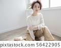 앞머리없이 단발 머리 여성 일본 미용 헤어 스타일 헤어 스타일 56422905