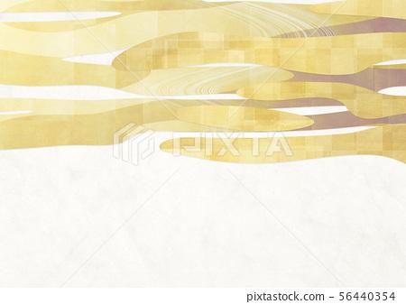 배경 소재 - 일본식 - 일본식 모던 - 금 - 흰색 종이 56440354