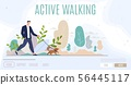 Active Leisure in City Flat Vector Web Banner 56445117