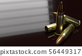 bullets 3d rendering for  abstract background. 56449317