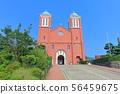 [나가사키 현] 맑은 날의 카톨릭 우라 카미 교회 56459675