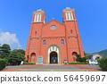 [나가사키 현] 맑은 날의 카톨릭 우라 카미 교회 56459697