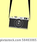 Hanging vintage camera vector 56463065