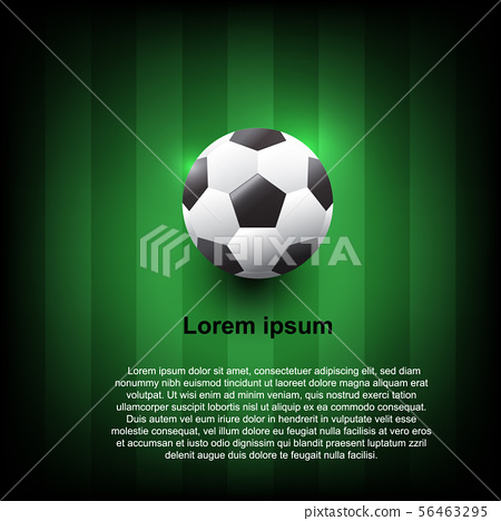 Vector realistic soccer ball on field grass 56463295
