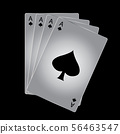 Vector Ace of spades playing card on black 56463547