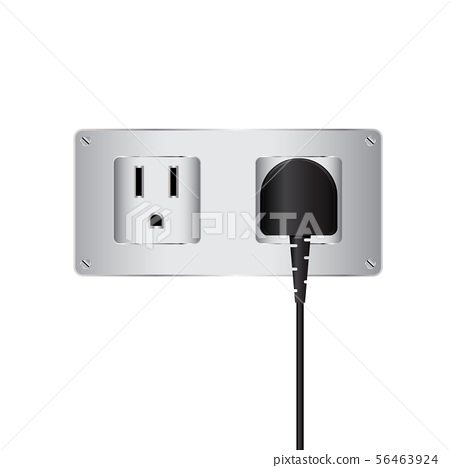Vector electric plug and outlet 56463924